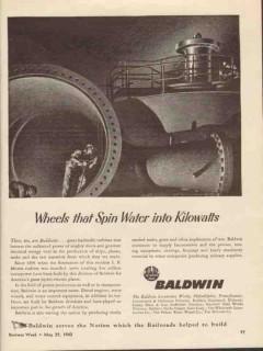 baldwin locomotive works 1943 wheels spin water kilowatts vintage ad