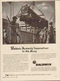 baldwin locomotive works 1943 austerity army ww2 engines vintage ad