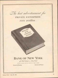 bank of new york 1943 best advertisement private enterprise vintage ad