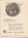 bankers trust company 1943 allied offensives are under way vintage ad