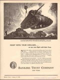 bankers trust company 1943 fight with your dollars ww2 vintage ad