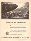 bankers trust company 1943 assembly lines move faster ww2 vintage ad
