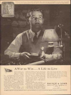 bausch lomb optical company 1943 war to win life to live vintage ad
