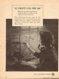 bell telephone system 1943 an urgent call for you ww2 vintage ad