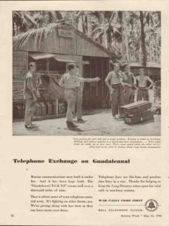 bell telephone system 1943 exchange on guadalcanal tel tel vintage ad