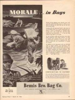 bemis brothers bag company 1943 moral in bags macek ww2 vintage ad