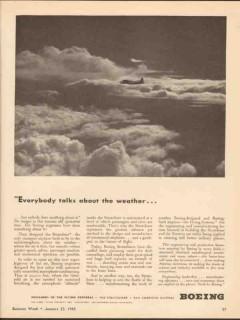 boeing 1943 everybody talks weather stratoliner ww2 vintage ad