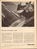 boeing 1943 skin freedom teeth flying fortress ww2 aircraft vintage ad