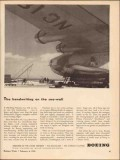 boeing 1943 handwriting sea-wall pan am clipper aircraft vintage ad