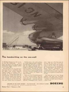 boeing 1943 handwriting sea-wall pan am clipper aircraft vintage ad
