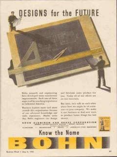 bohn aluminum brass corp 1943 designs for the future ww2 vintage ad