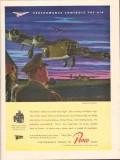borg-warner 1943 pesco performance controls the air ww2 vintage ad