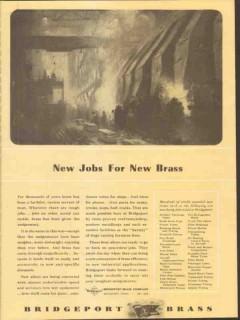 bridgeport brass company 1943 new jobs ww2 vintage ad