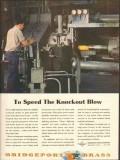 bridgeport brass company 1943 to speed knockout blow ww2 vintage ad