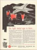 bryant chucking grinder co 1943 light metal age is born ww2 vintage ad
