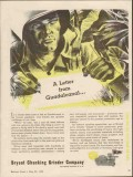bryant chucking grinder co 1943 letter from guadalcanal ww2 vintage ad