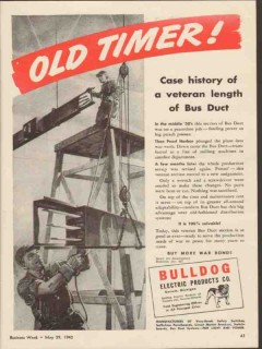 bulldog electric products company 1943 old timer bus duct vintage ad