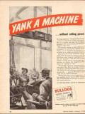 bulldog electric products company 1943 yank a machine power vintage ad