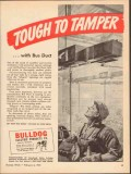 bulldog electric products company 1943 tough to tamper vintage ad