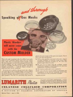 celanese celluloid corp 1943 speaking gas masks plastic ww2 vintage ad