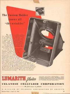 celanese celluloid corp 1943 custom molder wrinkles plastic vintage ad