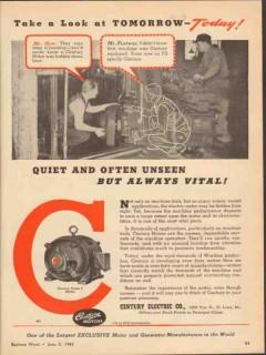 century electric company 1943 quiet unseen always vital vintage ad