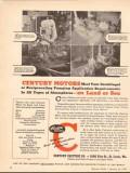 century electric company 1943 pumping application land sea vintage ad