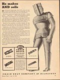 chain belt company 1943 makes sells mechanical engineering vintage ad