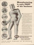 chain belt company 1943 manufacturing only part of business vintage ad
