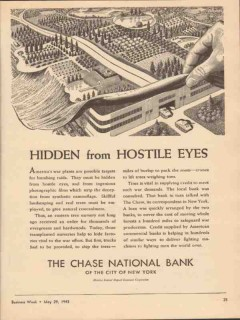chase national bank 1943 hidden from hostile eyes ww2 vintage ad