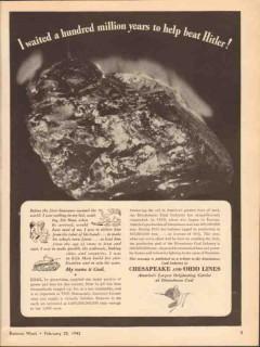 chesapeake ohio lines 1943 waited years to help beat hitler vintage ad