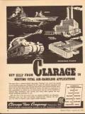 clarage fan company 1943 vital air handling applications vintage ad