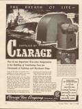 clarage fan company 1943 breath life ventilating fans ships vintage ad