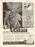 clarage fan company 1943 continuous abrasive action vintage ad