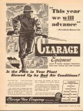 clarage fan company 1943 this year we will advance ww2 vintage ad