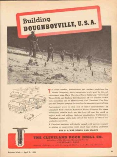 cleveland rock drill company 1943 building doughboyville vintage ad