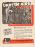 cleveland rock drill company 1943 undermining the axis ww2 vintage ad