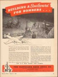cleveland rock drill company 1943 building bombers usa vintage ad