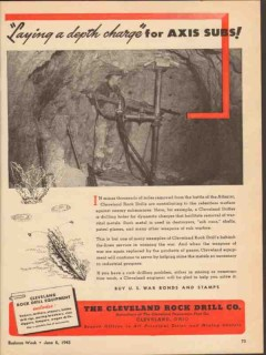cleveland rock drill company 1943 depth charge axis subs vintage ad