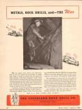 cleveland rock drill company 1943 metals drills war ww2 vintage ad