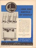 colson corp 1943 the battle of supply material handling ww2 vintage ad