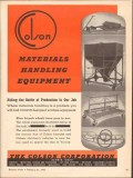 colson corp 1943 material handling equipment production ww2 vintage ad