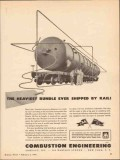combustion engineering 1943 heaviest bundle shipped rail vintage ad