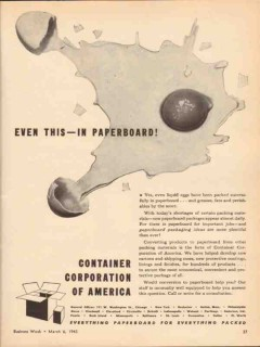 container corp of america 1943 even this paperboard carton vintage ad