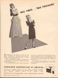 container corp of america 1943 war times packaging carton vintage ad