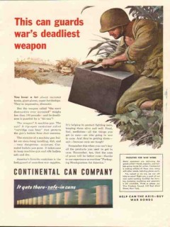 continental can company 1943 guards wars deadliest weapon vintage ad