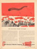 cone automatic machine company 1943 if worms had wings vintage ad