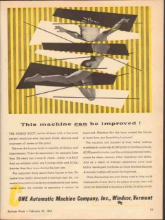 cone automatic machine company 1943 can be improved vintage ad