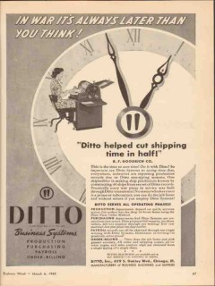 ditto inc 1943 in war its always later than you think ww2 vintage ad