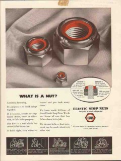 elastic stop nut corp 1943 what is a nut lock fast vintage ad